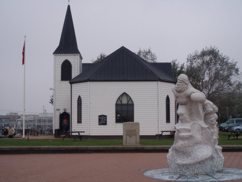 The Norwegian church in Cardiff Bay