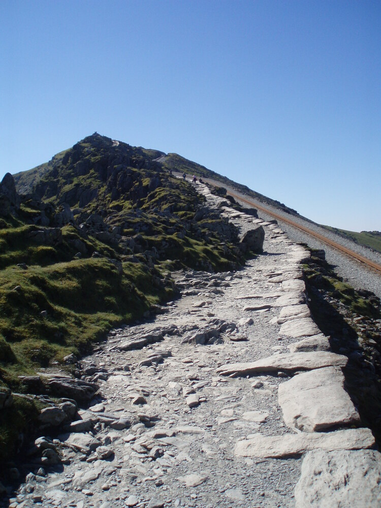 The Snowdon Mountain Railway goes right to the top of the Snowdon summit