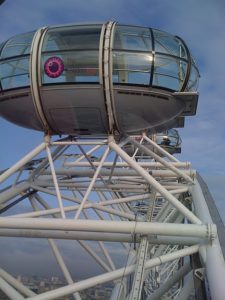 The London Eye - close to the top