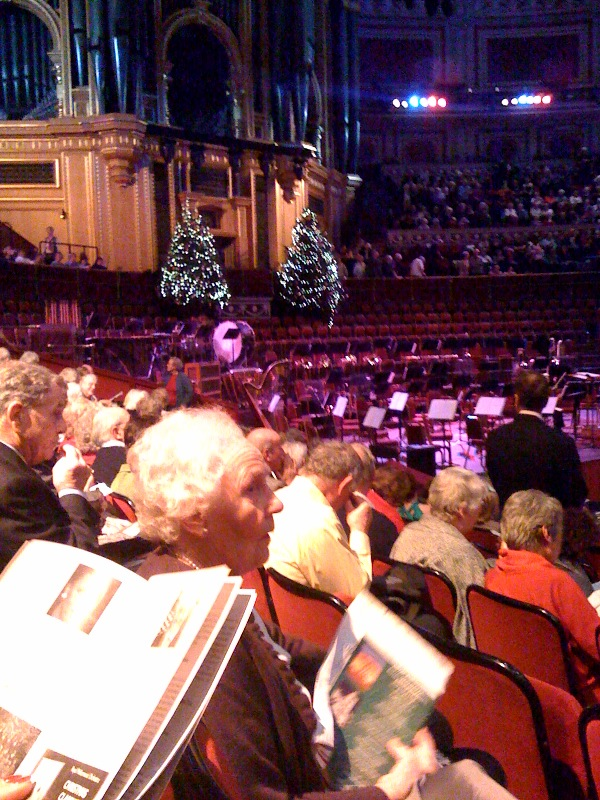 John Rutter Christmas celebration presented by the The Royal Philharmonic Orchestra and held at the Royal Albert hall