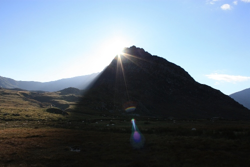 Sunset behind Tryfan