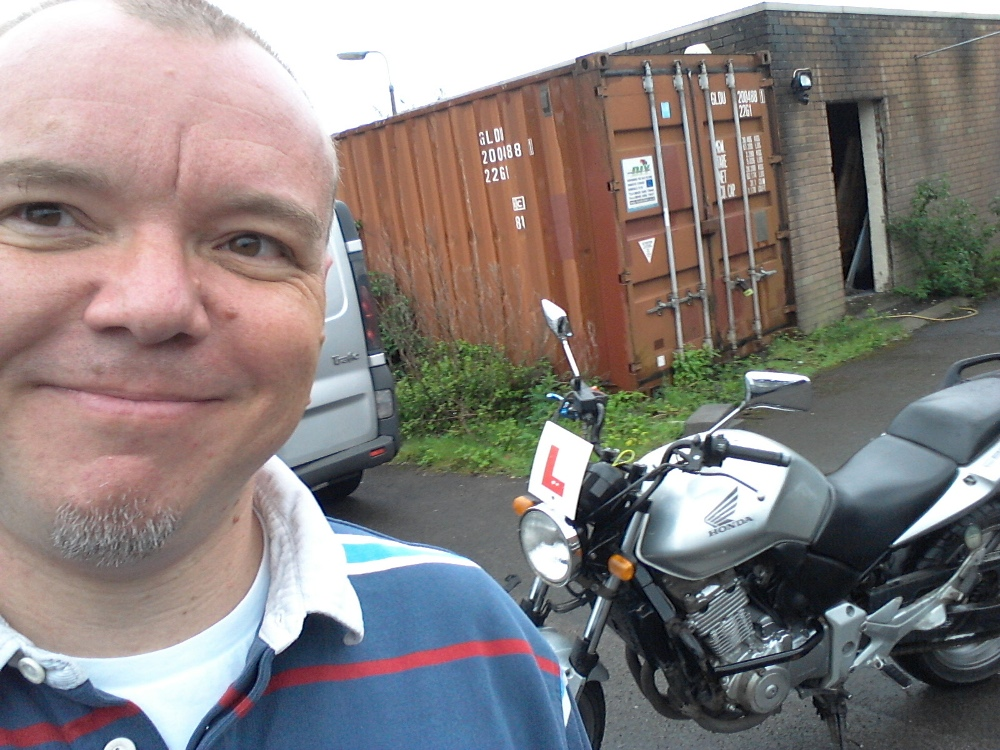 Me at Motorcycle Training Wales