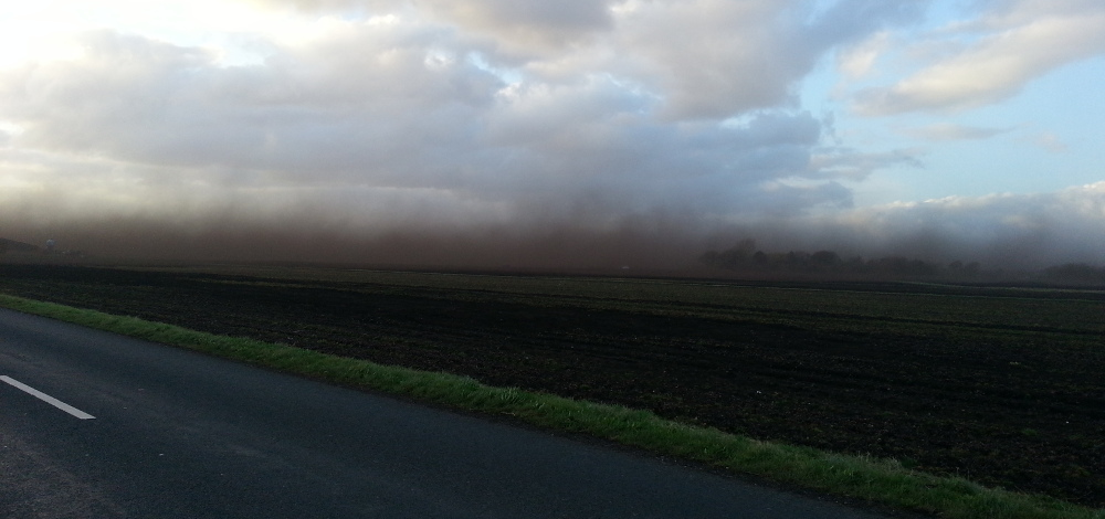 Lancashire dirt storm