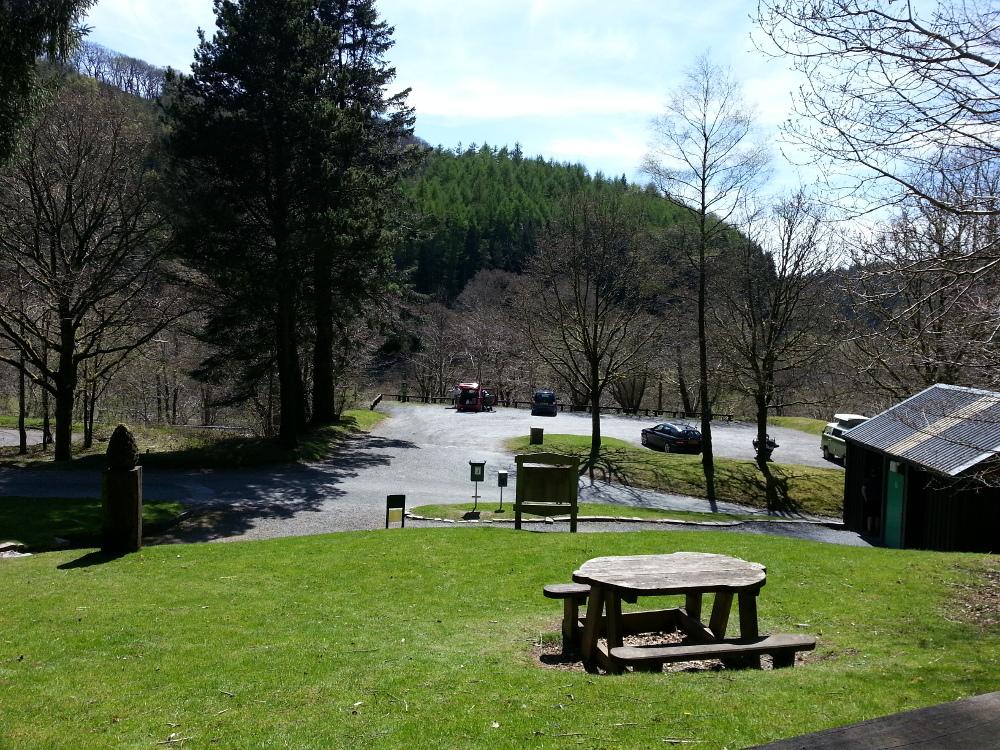 A picnic area near Corris