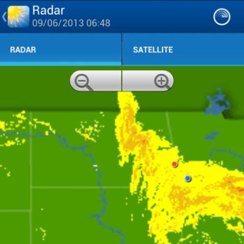 Dodging storm clouds