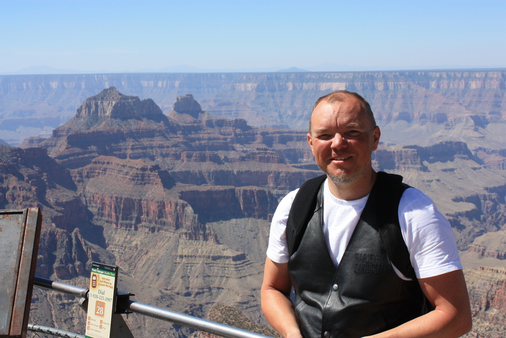 Me in front of the Grand canyon
