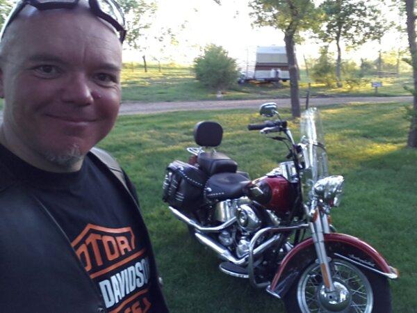 In the KOA campsite in Bismarck, North Dakota