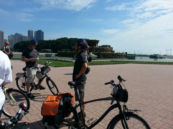 Bicycle tour round Chicago