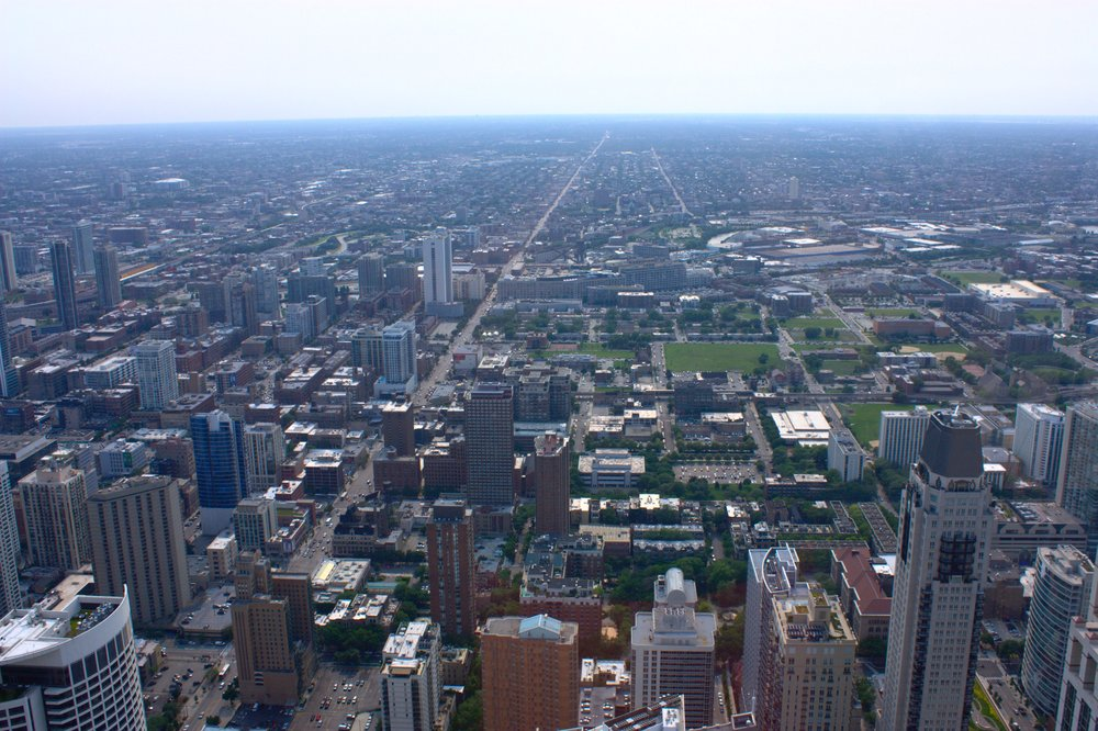 On top of the John Hancock Center - looking towards the direction of my long 23-day biking trip. A fitting end to the trip really