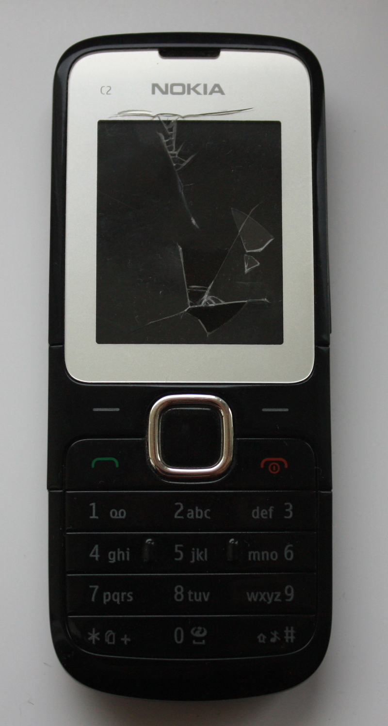 This was the state of the Nokia phone. The LCD was out but the phone sort-off still worked