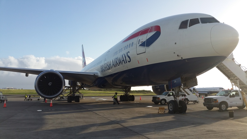 The BA 777 at Gatwick