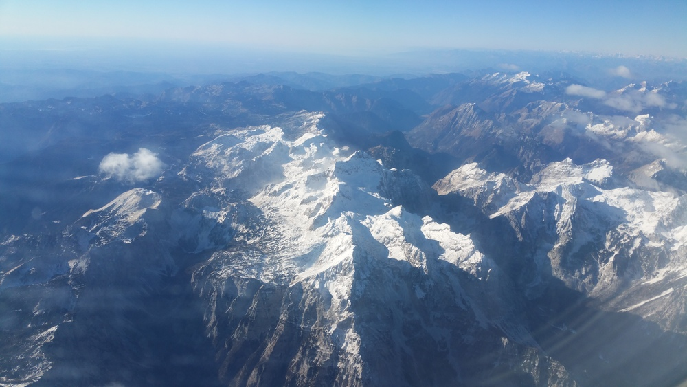 View of Triglav from my easyJet flight back to London Stansted
