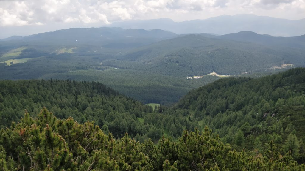 View towards Rudno Polje, where I started the hike