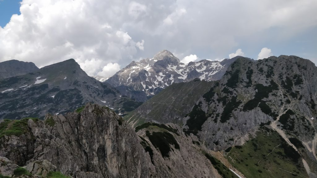 View of Triglav, 2,863m, from the top of Viševnik