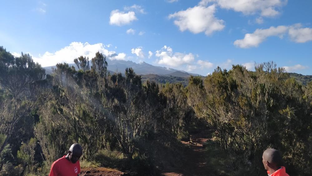 The caldera we hiked to