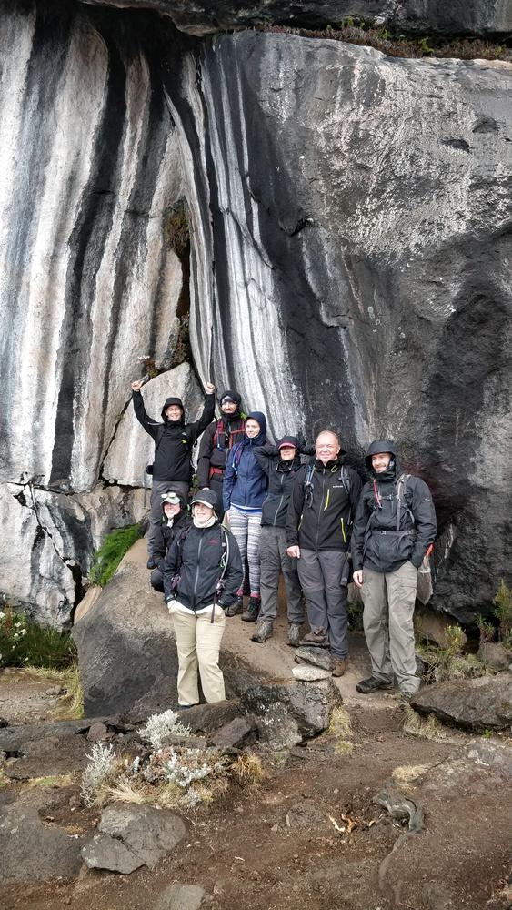 Group photo at Zebra rocks