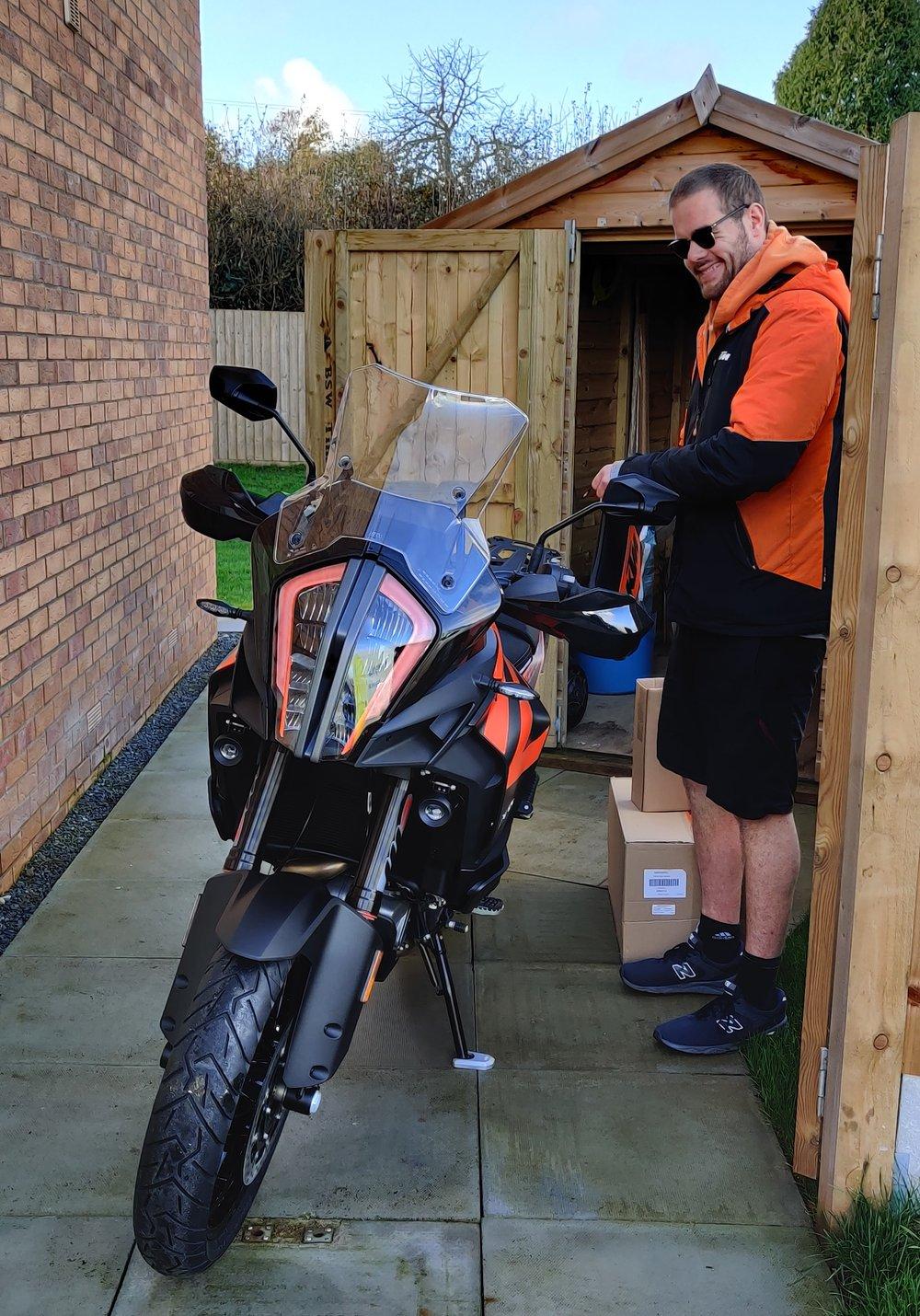 The KTM guy delivering the bike